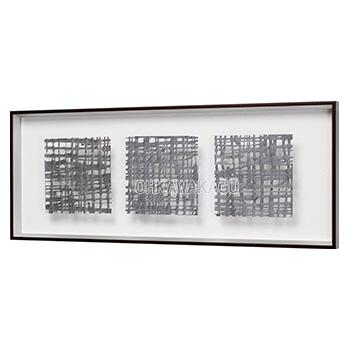 アートパネル インテリアパネル マサエコ MASAEKO 90×35cm デザインパネル 和モダン 立体額装 壁掛け 壁面 縦長 横長 IN3208/3213/3218/3223【送料無料】【大川家具】【170215】【smtb-MS】