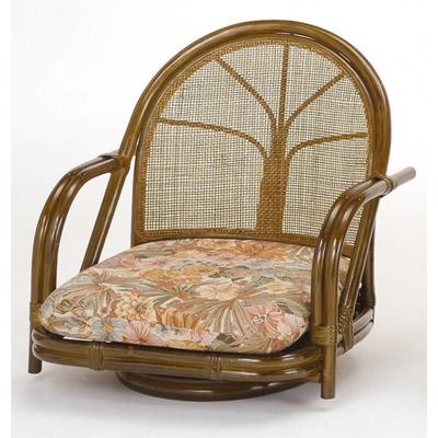 ラタン 籐 回転座椅子 ロータイプ S301B【送料無料】【アジアン】【大川家具】【smtb-MS】【TPO】【KOU】