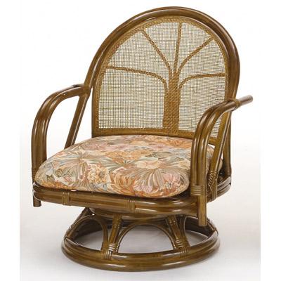 ラタン 籐 回転座椅子 ミドルタイプ S302B【送料無料】【アジアン】【大川家具】【smtb-MS】【TPO】【KOU】