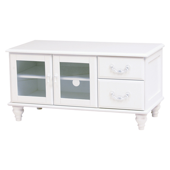 FEMININE WOOD FURNITURE TV台 MTV-5773WH【送料無料】【大川家具】【HGHB】【smtb-MS】