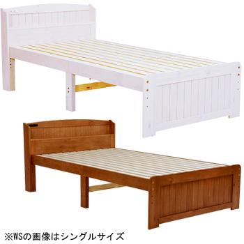 BED ベッド(セミダブル) MB-5905SD-WS/LBR【送料無料】【大川家具】【HGNB】【smtb-MS】