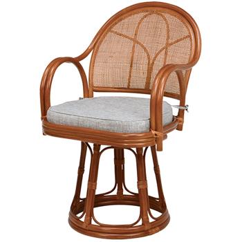 回転座椅子2脚1セット RZ-636BR【送料無料】【大川家具】【HGGF】【200523】【smtb-MS】