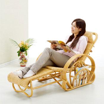 ラタン 籐三ツ折寝椅子 A100【送料無料】【大川家具】【smtb-MS】【MDT】【HPO】【KOU】【SRT】