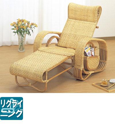 ◆ラタン 籐デラックス三つ折寝椅子A107【送料無料】【アジアン】【大川家具】【smtb-MS】【HPO】【KOU】