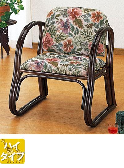 ラタン 籐デラックス思いやり座椅子 ハイタイプS124【送料無料】【大川家具】【smtb-MS】【MDT】【TPO】【KOU】