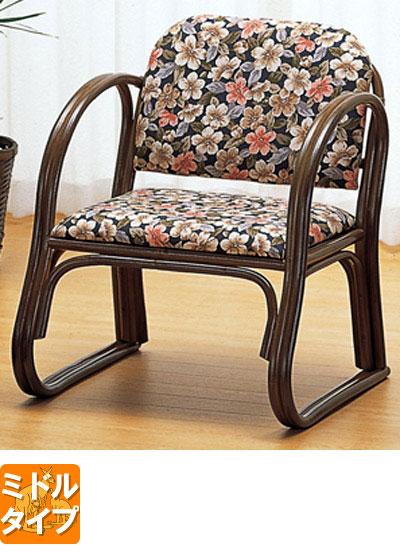 ◆ラタン 籐思いやり座椅子 ミドルタイプS212B【送料無料】【大川家具】【smtb-MS】【TPO】【KOU】