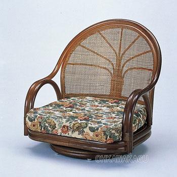 ラタン 籐 ワイド回転座椅子 ロータイプ S3003B【送料無料】【大川家具】【smtb-MS】【MDT】【HPO】【KOU】