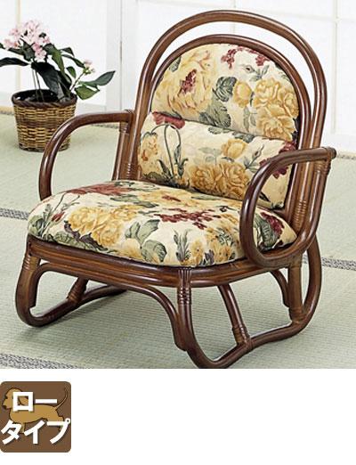 ラタン 籐安楽座椅子 ロータイプ S50B【送料無料】【大川家具】【smtb-MS】【TPO】【KOU】