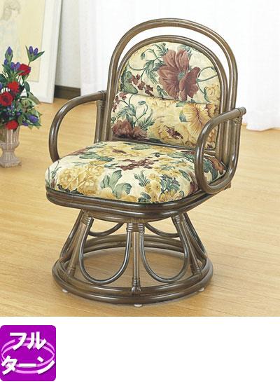 ◆ラタン 籐安楽座椅子回転タイプ S49B【送料無料】【大川家具】【smtb-MS】【HPO】【KOU】