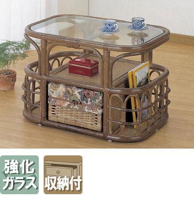 ◆ラタン 籐 テーブル T34B【送料無料】【大川家具】【smtb-MS】【HPO】【KOU】
