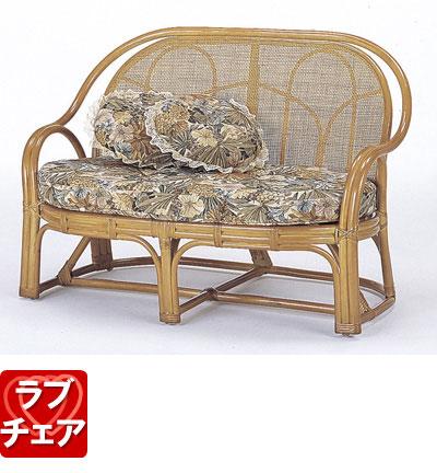 ◆ラタン 籐 ラブチェアー Y35【送料無料】【大川家具】【smtb-MS】【HPO】【KOU】