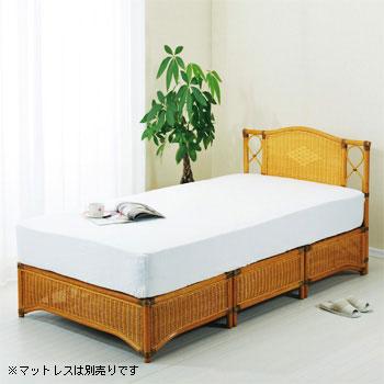 ラタン 籐ベッド・シングルサイズ Y918【送料無料】【大川家具】【smtb-MS】【HPO】【KOU】