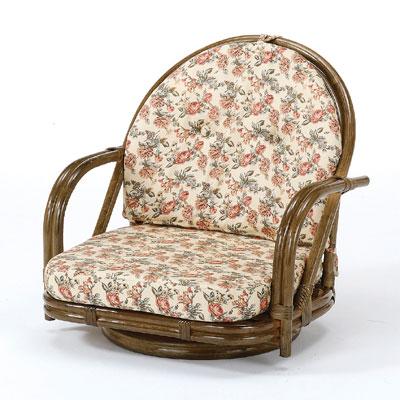 ◆ラタン 籐 回転座椅子 ロータイプ S251B【送料無料】【大川家具】【smtb-MS】【TPO】【KOU】