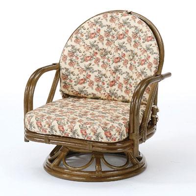 ラタン 籐 回転座椅子 ミドルタイプ S252B【送料無料】【大川家具】【smtb-MS】【TPO】【KOU】