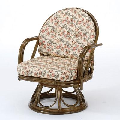 ☆ラタン 籐 回転座椅子 ミドルハイタイプ S253B【送料無料】【大川家具】【smtb-MS】【TPO】【KOU】【I-SS10】【202009SS】【SSMKK10】【10PO】