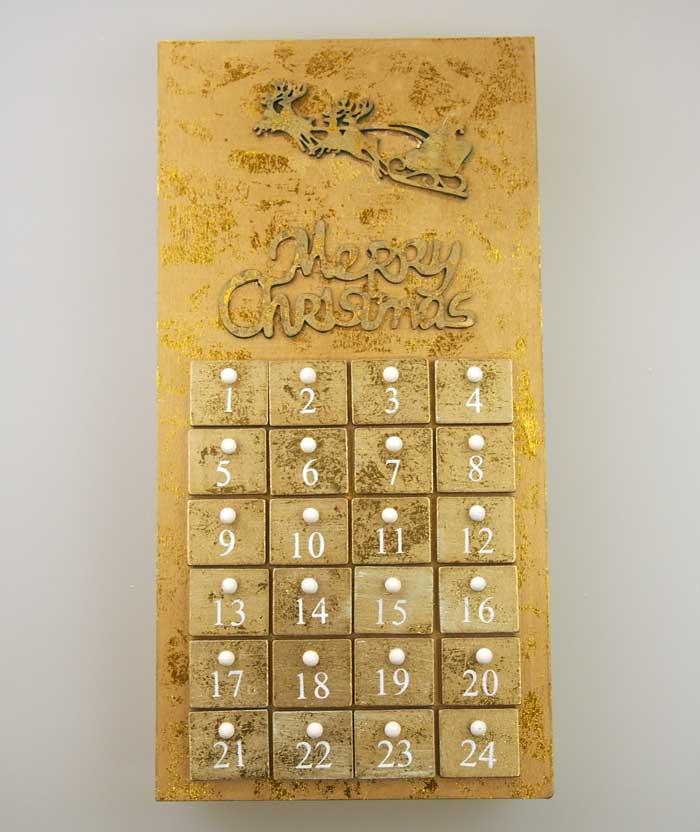 木製ゴールデンアドベントカレンダー トナカイ【クリスマス雑貨/クリスマス置物/送料無料】