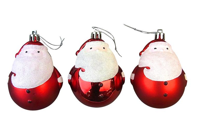 新品■送料無料■ 新作 大人気 見た目にも高級感があってとっても可愛いらしいボールサンタのクリスマスオーナメントです☆ クリスマスツリー飾り クリスマスオーナメント クリスマスボールサンタオーナメント3個セット