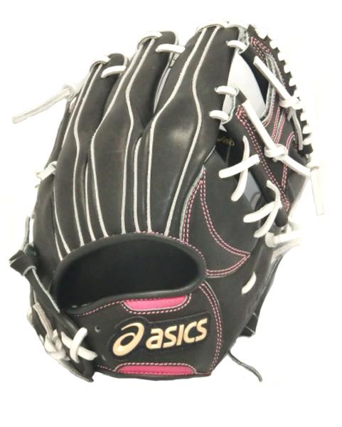 アシックス ゴールドステージ スピードテック QR ソフトボールグラブ BGS5LX-9019(ブラック×ピンク)