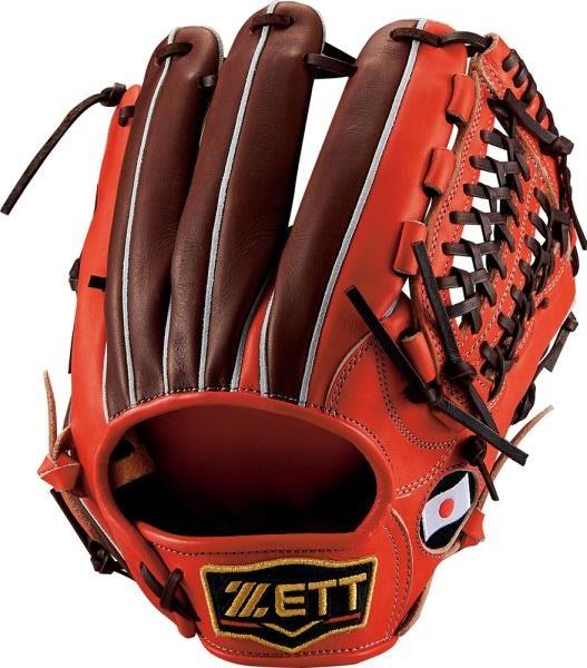 ゼット 野球 軟式グラブ プロステイタスシリーズ オールラウンド用 野球 軟式グラブ BRGB30560-5837 (ディープオレンジ×チョコブラウン)