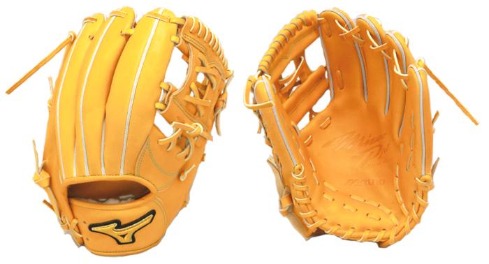 ミズノ ミズノプロ 内野手用N型 野球 硬式グラブ 1AJGH98643-54 (オレンジ)