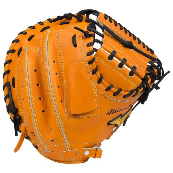 ミズノ 「ミズノプロ」フィンガーコアテクノロジー【捕手用】17SS 野球 硬式グラブ 1AJCH16000-542 (ビターオレンジ)