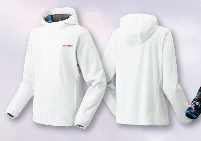 ヨネックス WOMEN 裏地付きウオームアップパーカー(フィットスタイル)17SS テニスウェア 暖かい  57026-011 (ホワイト)