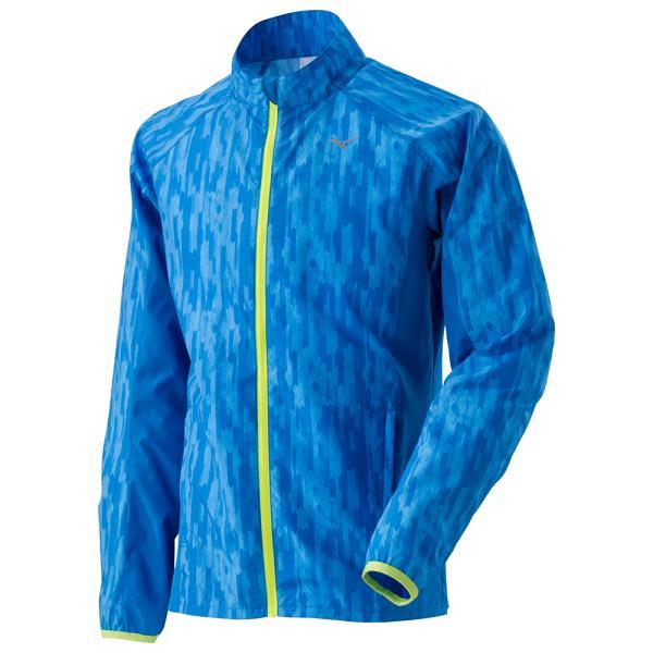 ミズノ ウインドブレーカーシャツ 17FW ランニング ウオームアップウエア J2ME7510-22 (ディレクトリブルー)