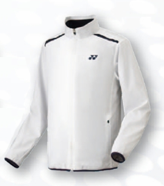 ヨネックス 裏地付ウインドウオーマーシャツ(フィットスタイル)17FW テニス ウォームアップウエア 70054-011 (ホワイト)