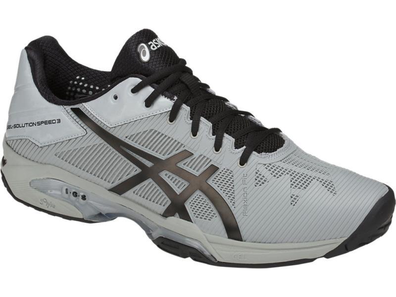 アシックス asics ゲル-ソリューション スピード 3 OC 18SS テニスシューズ TLL768-9690 (シルバーグレー/ブラック)
