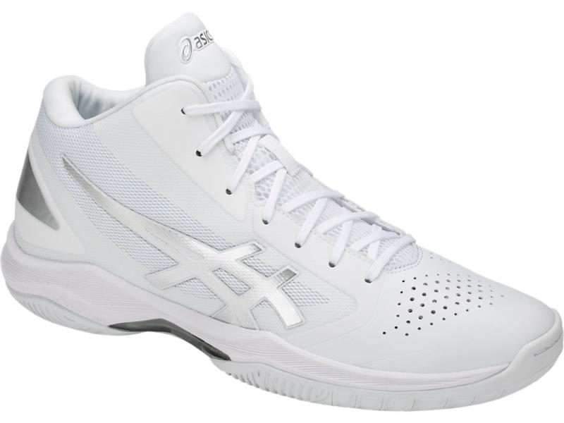 アシックス GELHOOP V10 ゲルフープV10 18SS バスケットボールシューズ TBF339-0193 (ホワイト/シルバー)