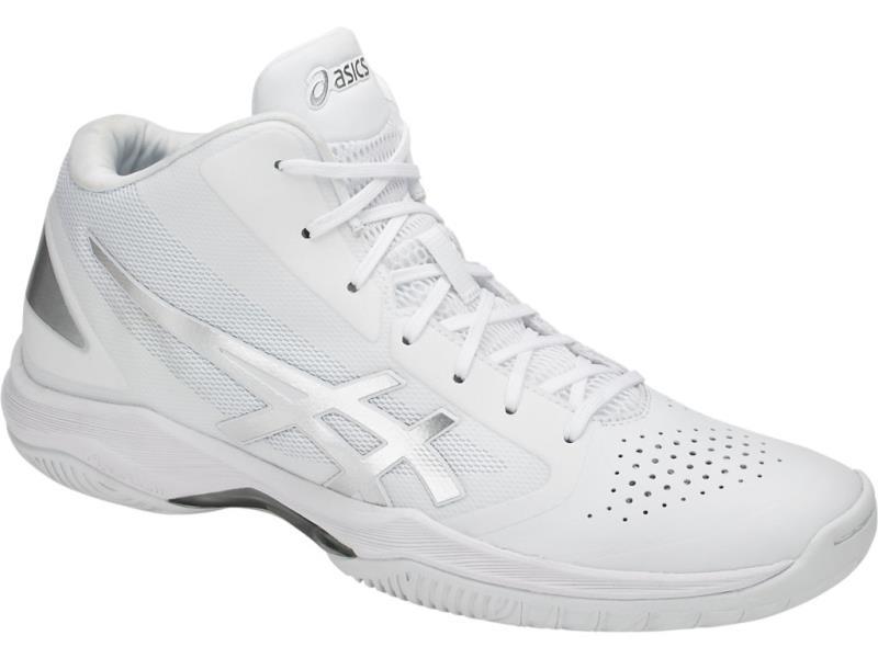 アシックス GELHOOP V10-slim ゲルフープV10-スリム 18SS バスケットボールシューズ TBF341-0193 (ホワイト/シルバー)