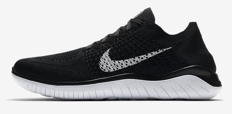 ナイキ Nike フリーラン フライニット 18SU メンズランニングシューズ 942838-001 (ブラック/ホワイト)