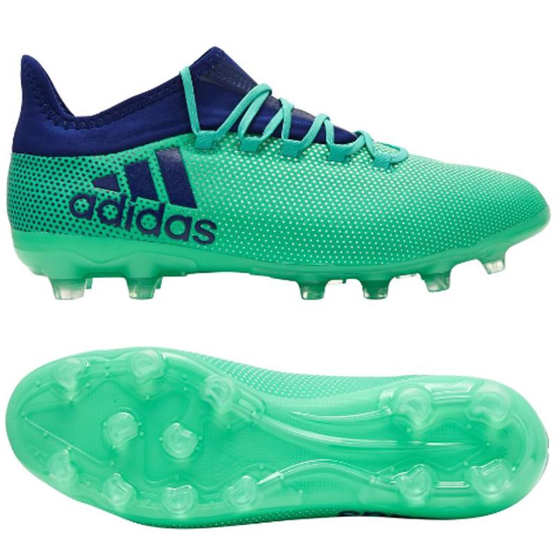アディダス adidas エックス 17.2-ジャパン HG 18Q3 サッカースパイク CQ1991 (エアログリーン S18/ユニティインク F16/ハイレゾグリーン S18 )