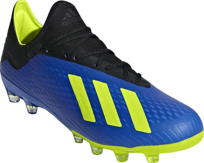 アディダス adidas エックス 18.2-ジャパン HG サッカースパイク BB6953 (フットボールブルー×ソーラーイエロー×コアブラック)