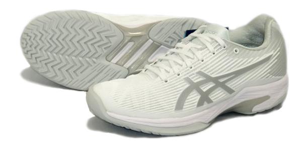 アシックス asics レディース ソリューションスピードFF 18AW レディーステニスシューズ 1042A002-100 (ホワイト×シルバー)
