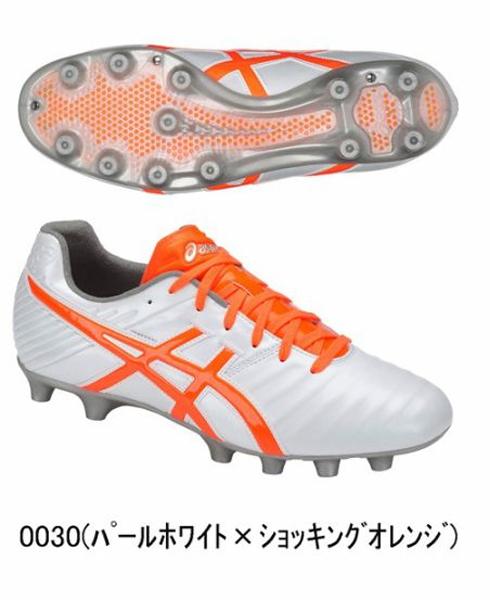 アシックス DS LIGHT 3 ディーエスライト3 18SS サッカースパイク TSI750-0030(パールホワイト/ショッキングオレンジ)
