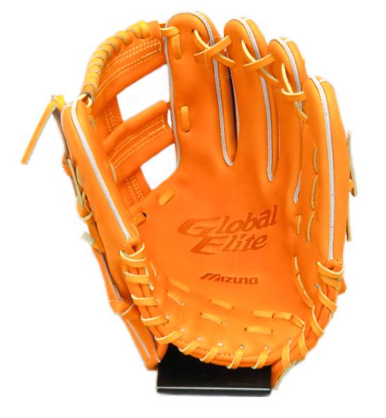 ミズノ MIZONO [グローバルエリート] 内野手用 K型 硬式グラブ 1AJGH97013-542 (ビターオレンジ)