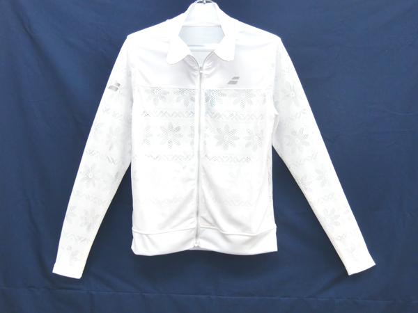 バボラ BABOLAT レディース メッシュ ジャケット 18SS レディースウオームアップウエア BTWLJK41-WH (ホワイト)