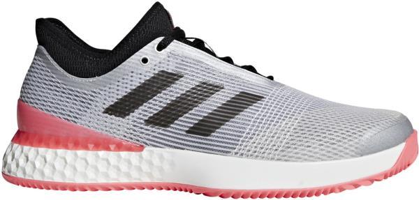 アディダス adidas ウーバーソニック 3 マルティコート テニスシューズ F36722 (マットシルバー×コアブラック×フラッシュレッドS15)