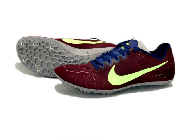 ナイキ Nike ナイキ ズームビクトリー3 陸上スパイク 835997-600 (ボルドー/ライムブラスト)
