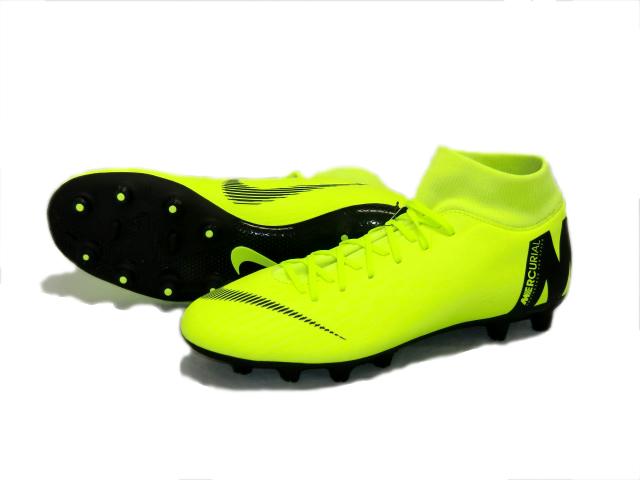 ナイキ Nike スーパーフライ 6アカデミー HG サッカースパイク AH8757-701 (ボルト/ブラック)