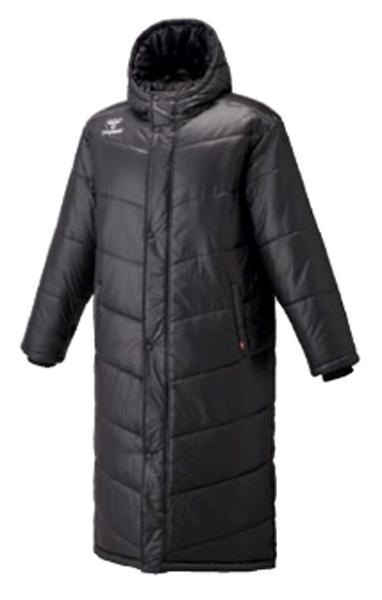 ヒュンメル hummel ベンチコート 中綿ロングコート NEW ウォームウエア HAW8081-90 (ブラック) メンズ