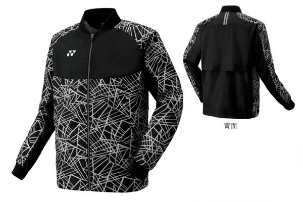 ヨネックス YONEX メンズ 裏地付ウインドウォーマーシャツ(フィットスタイル)NEW メンズ ウォームアップウエア 70060-007 (ブラック)
