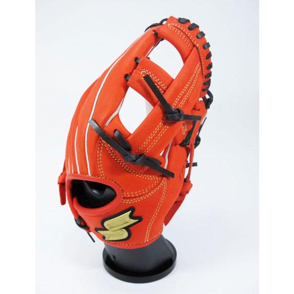 SSK エスエスケイ pej186f-3390 【グラブ グローブ】野球 少年軟式用グローブ(内野手用) プロエッジ Rオレンジ×ブラック