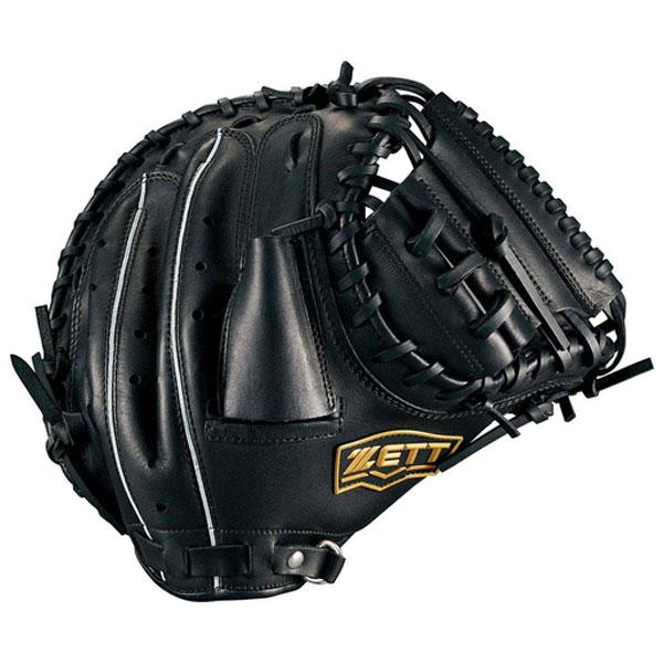 zett ゼット BRCB34812-1900 野球 一般軟式ミット デュアルキャッチ 捕手用 1900 ブラック