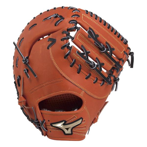mizuno ミズノ 1ajfr19300-52h 野球 軟式ファーストミット ナンシキGE HSELECTION02 メンズ スプレンディッドオレンジ