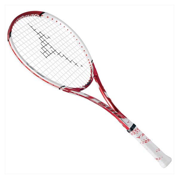 MIZUNO ミズノ 63jtn672-62 ディープインパクト T-500 ソフトテニスラケット 62:ルビーレッド