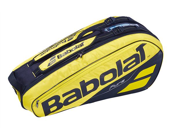 バボラ BABOLAT ラケットホルダー×6 NEW ラケットバッグ BB751182-YLBK (イエロー×ブラック)