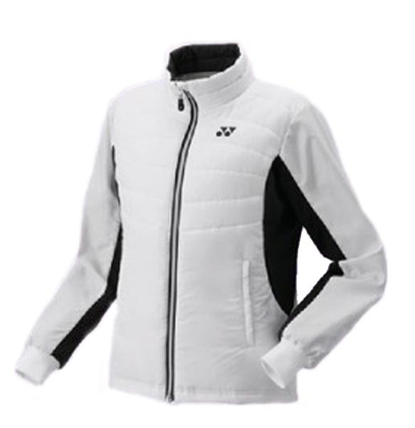 ヨネックス YONEX WOMEN 中綿ジャケット(フィットスタイル)NEW レディースウォームアップウエア 98048-011 (ホワイト)