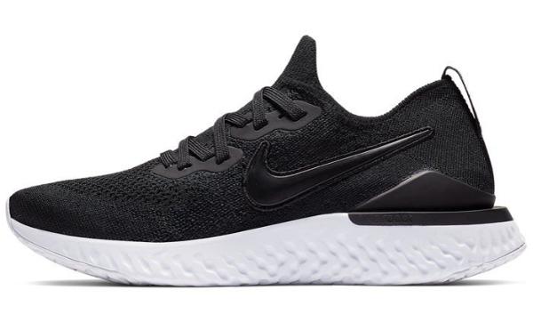ナイキ Nike ウイメンズ エピック リアクト フライニット2 NEW レディースランニングシューズ BQ8927-002 (ブラック/ブラック/ホワイト)